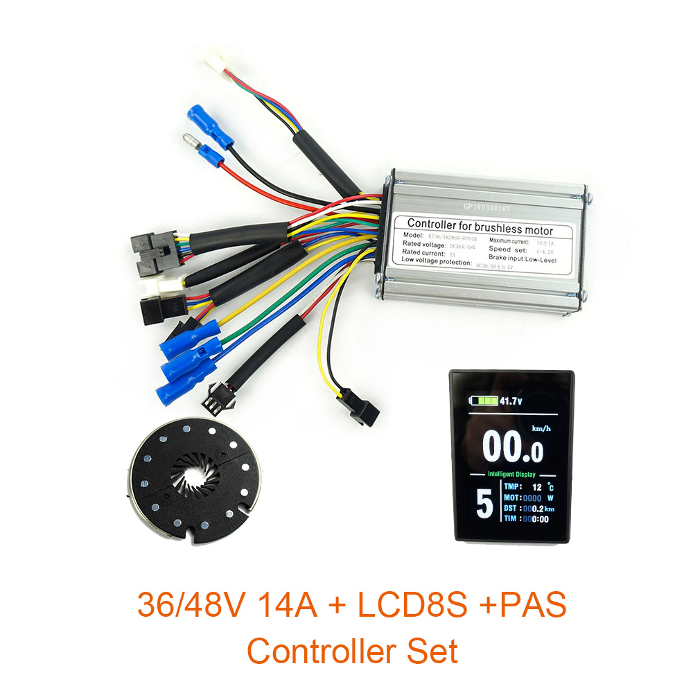 36V48V 250W 350W Controller LCD8S Color display PAS Set E bike Conversion kit Dual Mode Hall