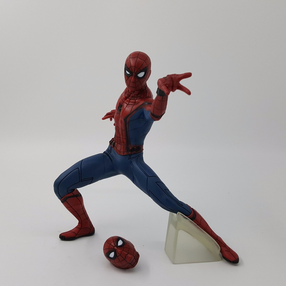 Spiderman Action Figure Homecoming 180mm Anime Spider-man Homecoming Collectible Model Doll Toy The Amazing Spider-Man 1230cm super hero x men wolverine spiderman spider man action figure doll classic model marvel toy as gift pvc free shipping
