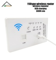 HESSWAY Wall Embedded Wireless AP Router 3G/4G Wireless Wifi Computer USB Charge Socket Panel 3G Repeater 118 standard Sockets