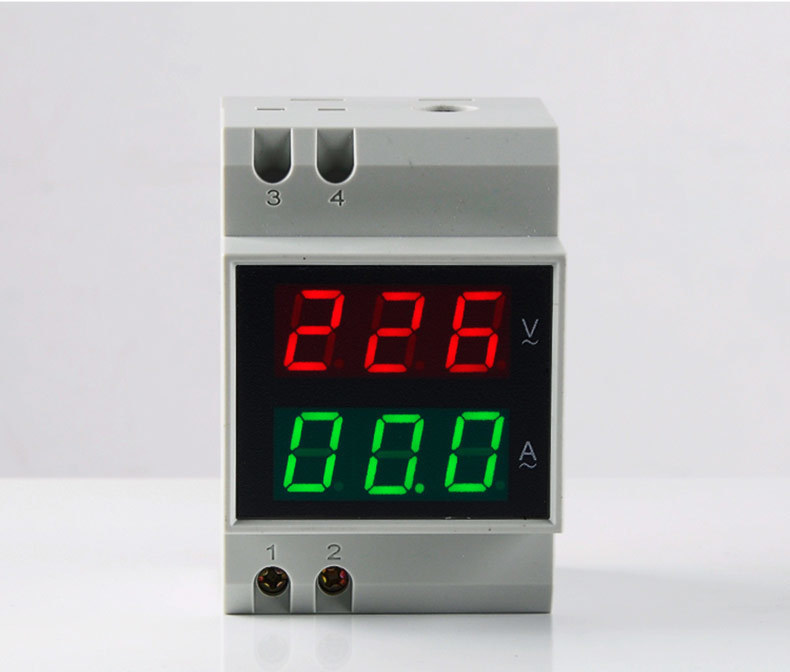<font><b>D52</b></font>-<font><b>2042</b></font> DoubIe Display DIN RAll Red Green AC80-300V AC0.1-99.9A Digital AC Voltmeter AIternationg Voltage Current Meter image