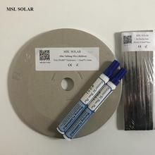 MSL SOLAR 200Feet Solar cell Tabbing wire + 15feet Busbar wire +2pcs flux pen .Tin-plate Copper strip for diy solar panel.