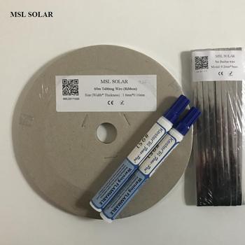 MSL SOLAR 200Feet Solar cell Tabbing wire + 15feet Busbar wire +2pcs flux pen .Tin-plate Copper strip for diy solar panel.