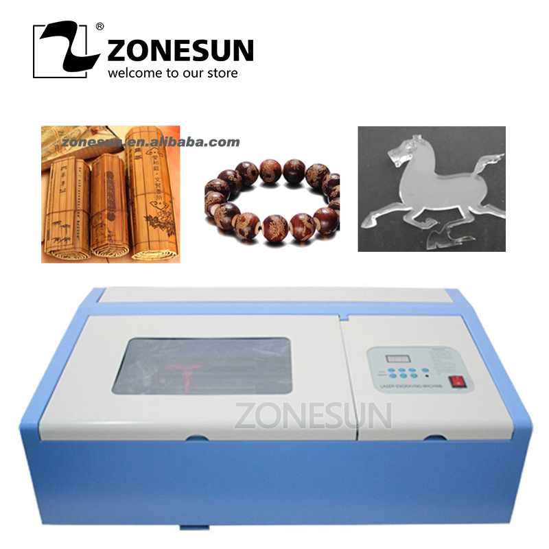 ZONESUN 110/220V 40W 200*300mm Mini CO2 Laser Engraving Cutting Machine 3020 Laser Engrave for Ceramic Glass Bamboo Handcraft co2 laser machine with usb sport 110 220v 40w 300 200mm mini co2 laser engraver engraving cutting machine 3020 laser