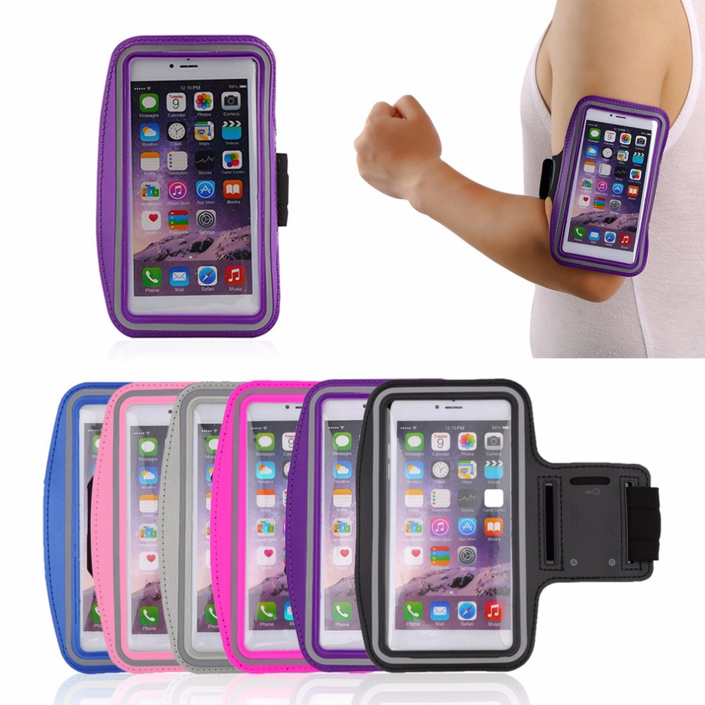 Armband For IPhone X 8 7 6 6s Sports Running Arm Band Cell Phone Holder Pouch Case For Apple Iphone 6 7 8 Plus Cover Phone Cases