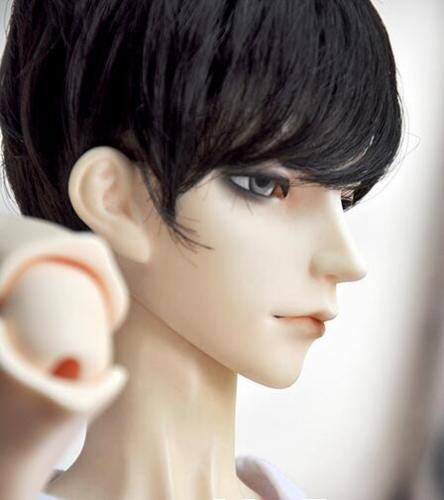 Новый 21.5-23.5 см черный Ультра короткие волосы молодежной моды парик для 1/3 Dot Pullip СНМП BJD SD кукла парик