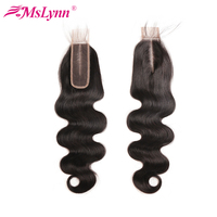 2x6 Lace Closure Brazilian Body Wave Hair Middle Part Kim K Closure 8 18Inch Swiss Lace Closure With Baby Hair Remy Human Hair
