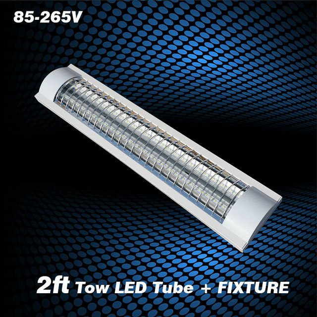 0 6m Explosion Proof Two Led Lights Replace Fluorescent Light Fixture Ceiling Grille Lamp Ac