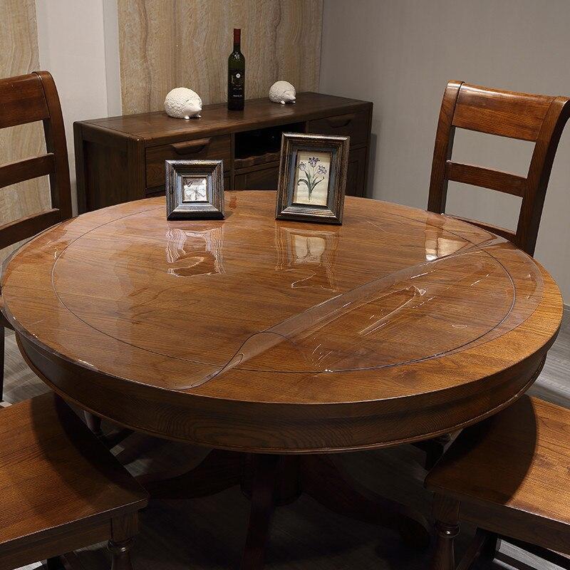 nappe ronde en plastique pvc transparente impermeable a l huile napperon de table en verre souple napperon de table pour hotel