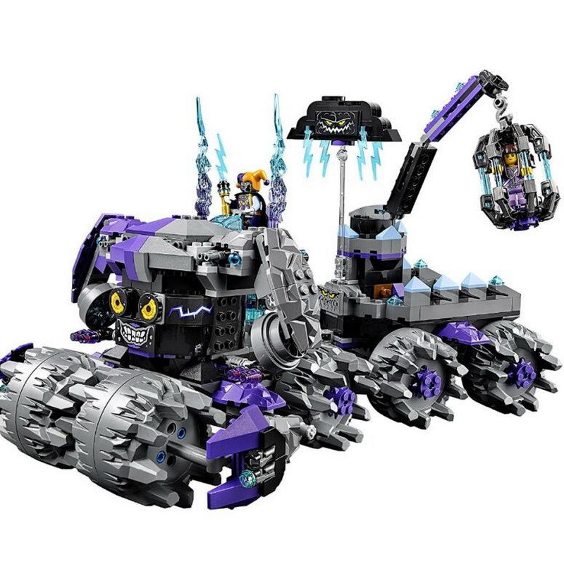 10597 BELA Nexo Knights Jestro's Headquarter Model Building Blocks Classic Enlighten Figure Toys For Children Compatible Legoe 10639 bela city explorers volcano crawler model building blocks classic enlighten diy figure toys for children compatible legoe