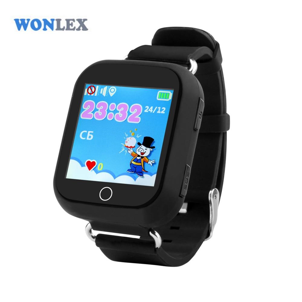 imágenes para Wonlex niños inteligentes gps reloj posicionamiento gw200s bebé monitor de seguridad con wifi 1.54 pulgadas de pantalla táctil sos del perseguidor