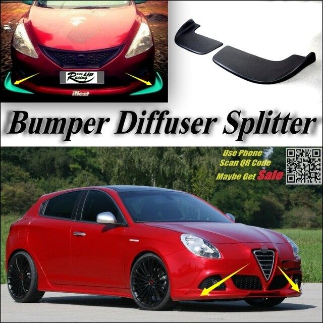 Car Splitter Diffuser Bumper Canard Lip For Alfa Romeo