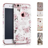 3D Embossed Printing Hard Case For IPhone 6s Plus Luxury Floral Flower Cover For Apple IPhone