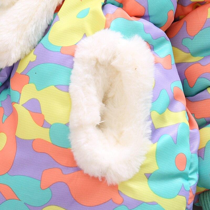 Bibihou inverno bonito coelho jaqueta de bebê