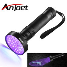 Anjoet УФ фонарик 100 светодиодов 395 нм детектор света для