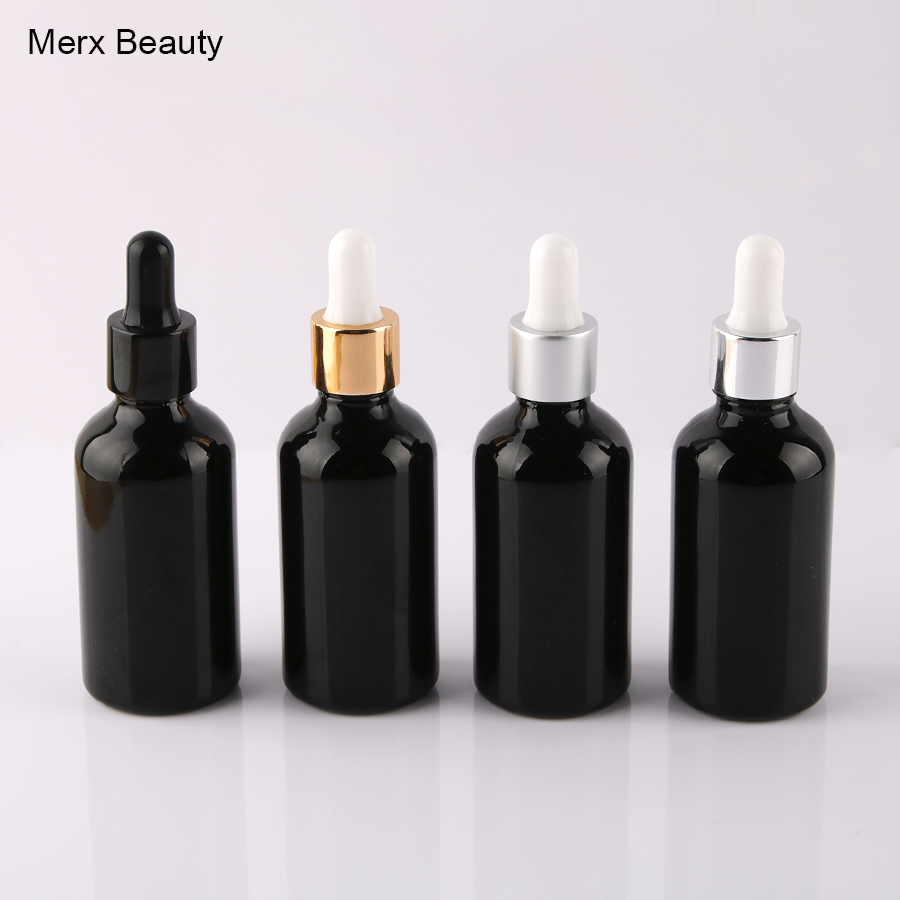 12 Pcs 1.67 oz 50ml Round glossy Black Glass Bottle For Essential Oils romatherapy serum toner perfum With Pipette Eye Dropper plug elbow right angle 3 5mm male to female audio connector 90 degree adapter gold plated free shipping