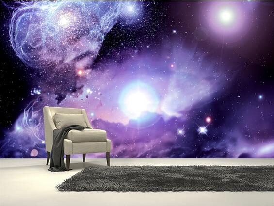 fantasy background space bedroom room 3d universe nebula modern hotel wall star living custom waterproof kitchen mural backdrop vinyl wallpapers