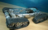 Сплав шасси танка трактор гусеничный умный робот автомобиль препятствий колючая diy rc игрушки дистанционное управление