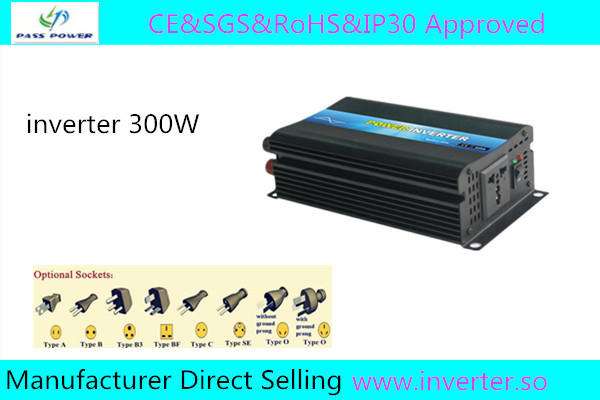 CESGS&RoHS&ip30 approved ,Power Inverter 12v 220v 300w ,one year warranty ,made in China