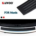 KAWOO для Mazda 2, 3, 5, 6, 8, CX-7 CX-9 MX-5 CX-5 323 629 MPV Субару Outback резиновая задняя Защита бампера Защита Накладка порога коврик накладка стайлинга автомобил...