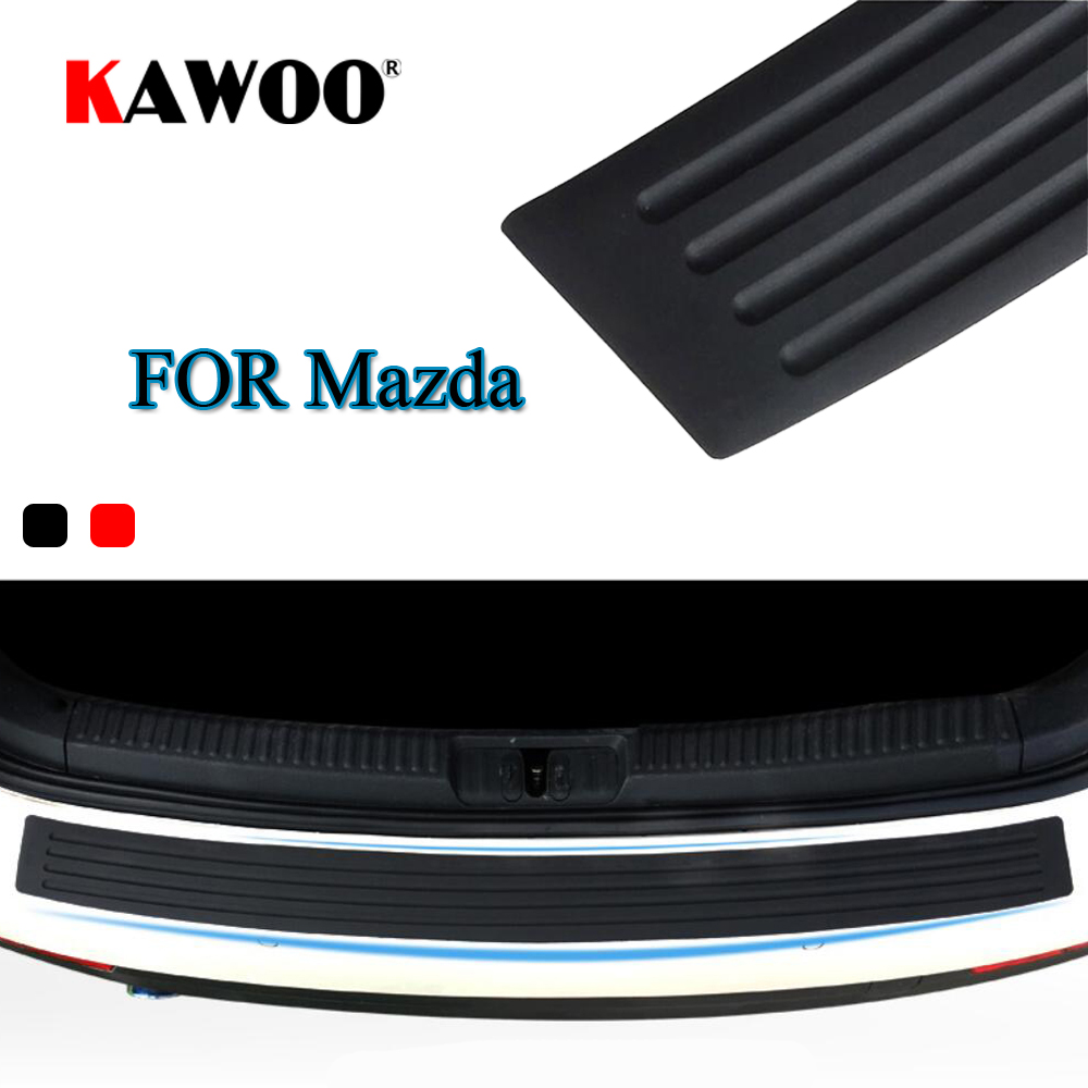 KAWOO For Mazda 2 3 5 6 8 CX-7 CX-9 MX-5 CX-5 323 629 MPV Rubber Rear Guard Bumper Protect Trim Cover Sill Mat Pad Car Styling игрушка siku альфа ромео 4c 7 8 9 7 3 8см 1451