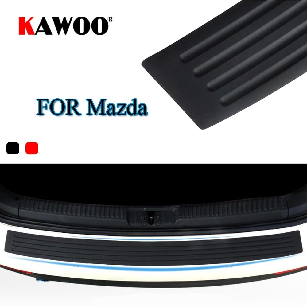 KAWOO для Mazda 2, 3, 5, 6, 8, искусственная резьба, 323, 629 MPV, резиновый задний бампер, защита, Накладка на порог, коврик для стайлинга автомобиля