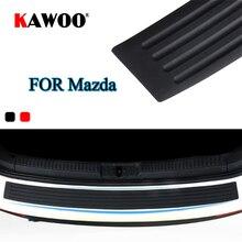 KAWOO Para Mazda 2 3 5 6 8 CX-7 CX-9 MX-5 CX-5 323 629 MPV Retaguardia Parachoques De Goma Proteger Cubierta de Umbral Coche Cojín de la Estera Styling