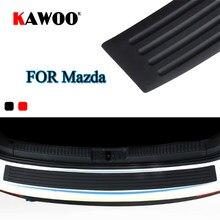 KAWOO para Mazda 2 3 5 6 8 CX-7 CX-9 MX-5 CX-5 323 629 MPV de goma para parachoques protector trasero proteger Trim cubierta de ventana Mat Pad estilo de coche