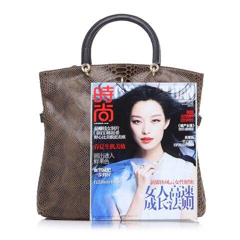 REALER Genuine Leather Bags for women Snake Pattern Tote Bag Top Quality Leather Handbags Evening Clutch Female Shoulder Bag Multan