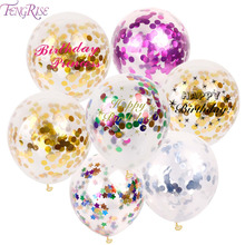 12 inch Confetti Balloons for Wedding Party Decorations 10pcs(China)