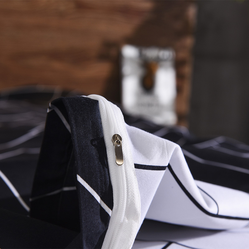 Image 3 - LOVINSUNSHINE King Duvet Cover Set Comforter Bedding Sets Stripe Black Bedding Set GA01#-in Duvet Cover from Home & Garden