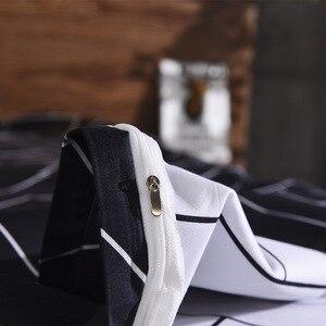 Image 3 - LOVINSUNSHINE King Duvet Cover Set Comforter Bedding Sets Stripe Black Bedding Set GA01#