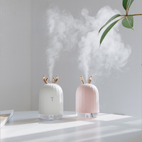 Lovely Rabbit Essential Oil Diffuser Air Freshener Ultrasonic Humidifier Night Light Desktop Decora Home Decoration Accessories