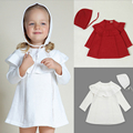 New 2016  Autumn Girl Princess Sweater Dress Knitted Cute White Baby Dress Kids Knee-Length Dress For Infant Girl dress