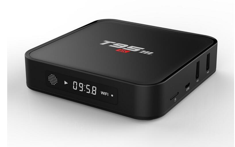 4K ULTRA HD HOME THEATRE T95M 2G/8G Android 6.0 Smart TV Box Amlogic S905X Quad Core 2.4GHz Wifi Bluetooth 4.0 4K Google TV BOX