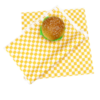 250pcs Fast Food Wax Paper Packing Paper Sandwich Cake Xmas Restaurant Bar Checkered Deli Basket Liner Food Oil proof Bread