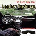 Для Ford Mustang 350gt 500 2015 2016 2017 2018 2019 кожаный Dashmat крышка приборной панели ковёр под заказ автомобильный Стайлинг LHD + RHD