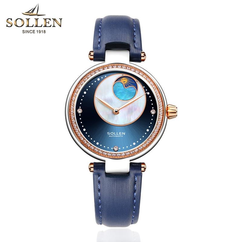 kobiet zegarka luxury women Watch automatic mechanical high end Leather watches female fashion hollow waterproof Dress clock цена и фото