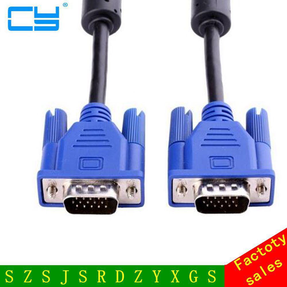 Акционная цена, Высококачественный новый кабель VGA Bule 1,35 м, VGA/SVGA HDB15, кабель-удлинитель «штырь-штырь»