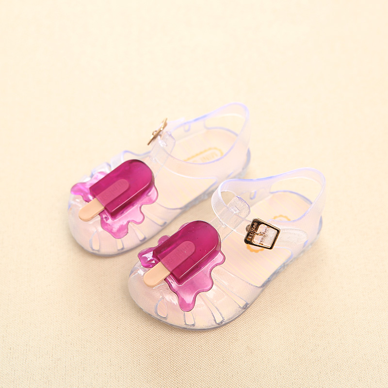 Brand New Mini Melissa Popsicle Girl Jelly Sandals Popsicle Ice Cream Baby Sandals Children Sandals Girl Water Shoes