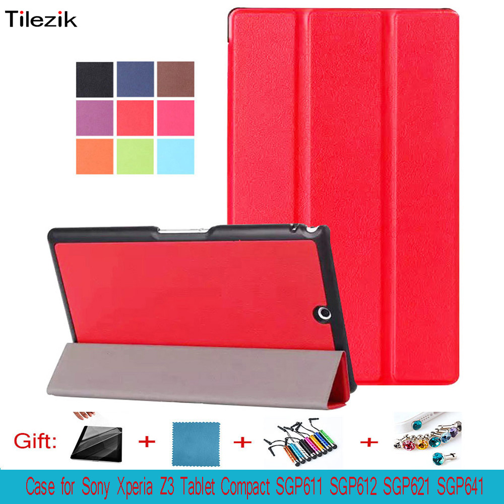 Case cover for Sony Xperia Z3 Tablet Compact , Ultra Slim Stand Cover for Sony SGP611 SGP612 SGP621 SGP641 case micro usb cable magnetic charger converter connector adapter for sony xperia z3 z3 compact z2 z1 z1 compact mini z3 tablet