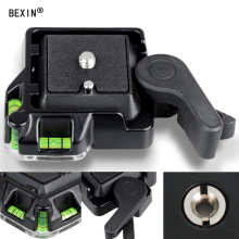 Quick Release Plate with 1/4 inch Screw and 3/8 Camera Tripod Base Seat Clamp Pan For DSLR