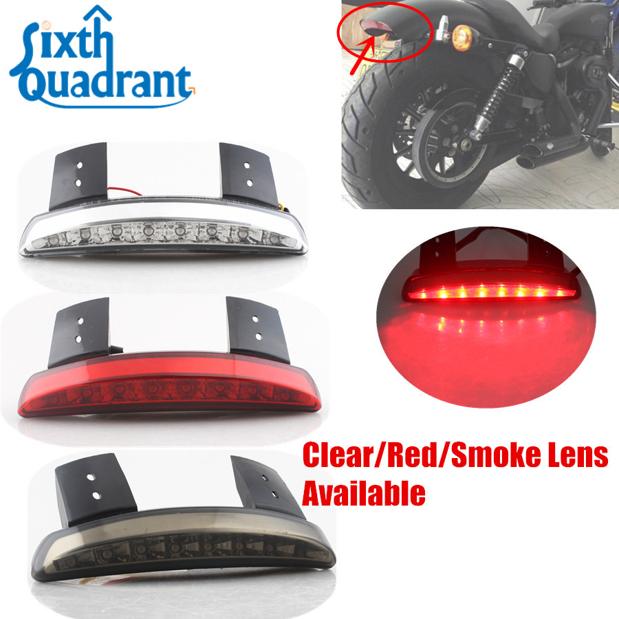 Motorcycle Rear Fender Edge Led Tail Light For Harley Davidson Iron 883 Xl883n Xl1200n 1200 Brake Lamp Smoke Back To Search Resultshome