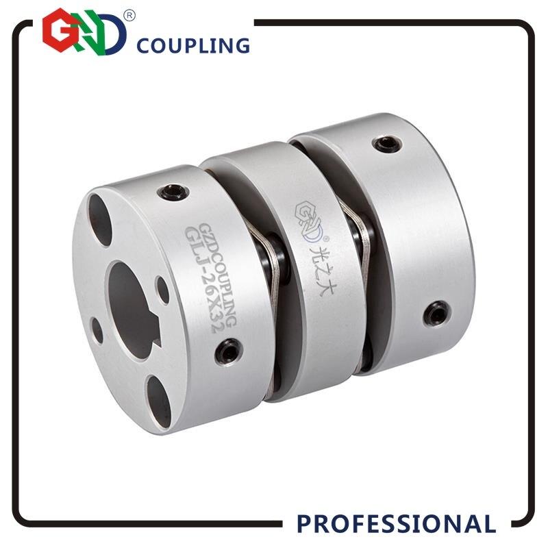 GLJ aluminum alloy double diaphragm top wire series flexible stepmotor Shaft Couplings D39L50 gig stainless steel parallel wire series shaft couplings d63 l71 d63 l90