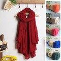 Wj128 2015 nueva moda 200 cm * 120 cm 29 colores disponibles mujer pañuelos de algodón suave señora bufanda de los mantones femeninos abrigos envío gratis