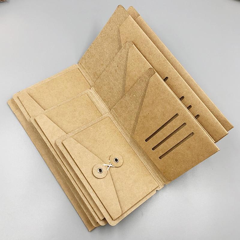 Fromthenon Kraft Paper Envelope Organizer For Midori Travelers Notebook Diary Refills Planner Accessories Tickets Cards Passport