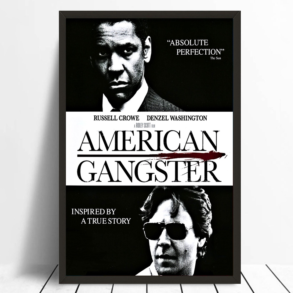 American Gangster Movie Poster Silk Poster Print Home Decor Pictures No Frame image