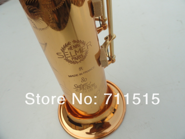 Selmer 802 D'or Droite D'or Saxophone Soprano B Saxophone Soprano Saxophone Avec Embout Buccal Livraison Gratuite