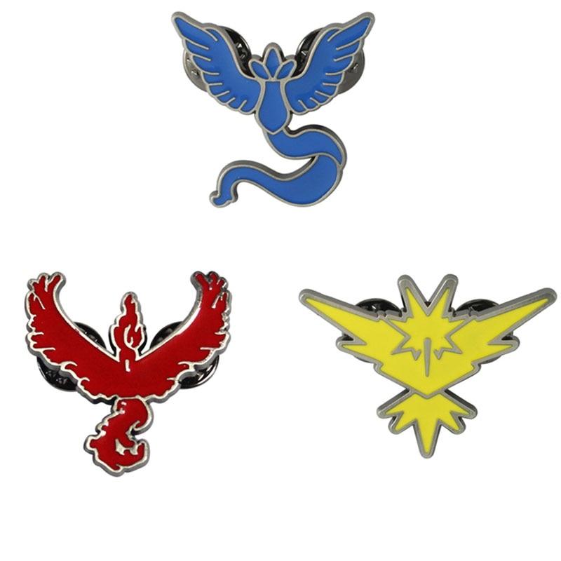 Hot Pokemon GO Keychain Team Valor Instinct Mystic God Tag pocket