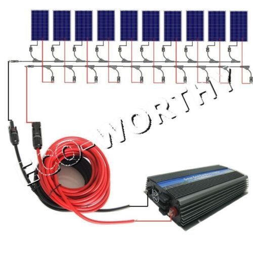 1KW COMPLETE KIT: 10x 100W PV Solar cell Panel 12V solar system for RV charging high efficiency solar cell 100pcs grade a solar cell diy 100w solar panel solar generators