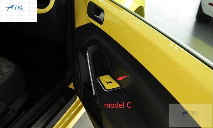 For Volkswagen Beetle 2013 2014 2015 Door Armrest Window Lift Switch Button Cover Trim 2 pcs / set / 3 model for choice!